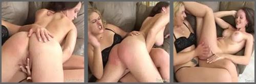Lesbianas zorras dándose nalgadas