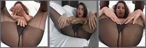 Paja fetiche con un panti