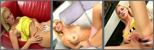 Una chica con juguetes eróticos